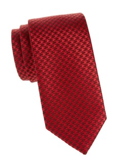 Charvet Wool & Silk Houndstooth Tie