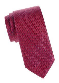 Charvet Woven Silk Abstract Tie