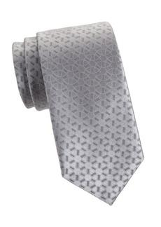 Charvet Woven Silk Geometric Circle Tie