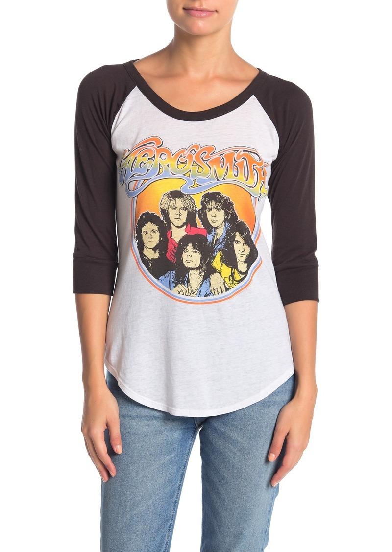Chaser Aerosmith Classic Vintage Jersy Knit Tee