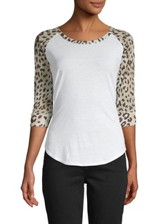 Chaser Animal-Print Cotton-Blend Jersey Top