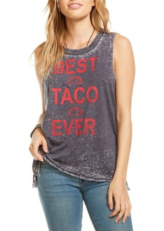 Chaser Best Taco Ever Graphic Distressed Tee