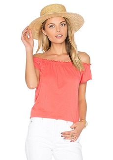Chaser Boho Tee in Coral. - size L (also in M,S,XS)