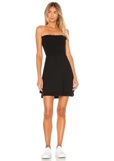 Chaser Cozy Knit Strapless Smocked Mini Dress