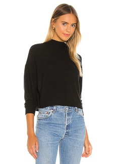 Chaser Cropped Funnel Neck Sweatshirt