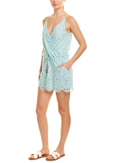Chaser Crossover Lace Mini Dress