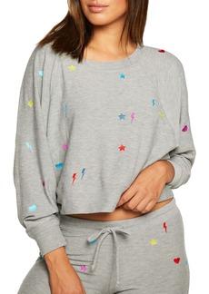 Chaser Embroidered Crop Sweatshirt