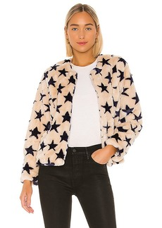 Chaser Faux Fur Collarless Jacket