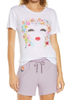 Chaser Floral Face Graphic Sleep Tee