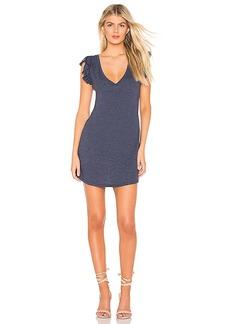 Chaser Flutter Sleeve Hi Low Shirttail Dress