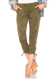 Chaser Heirloom Lace Up Cropped Pant