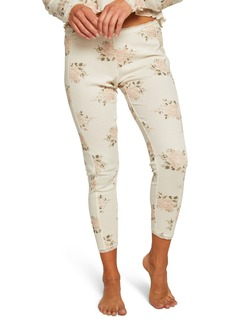 Chaser Heritage Lace Trim Thermal Leggings