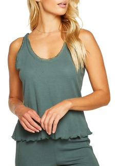 Chaser Heritage Lace Trim Waffle Knit Tank