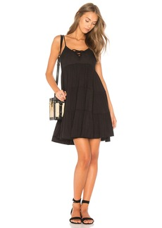 Chaser Lace Up Tiered Dress
