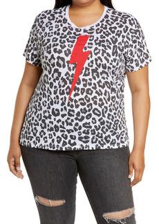 Chaser Leopard Lightening Bolt T-Shirt (Plus Size)
