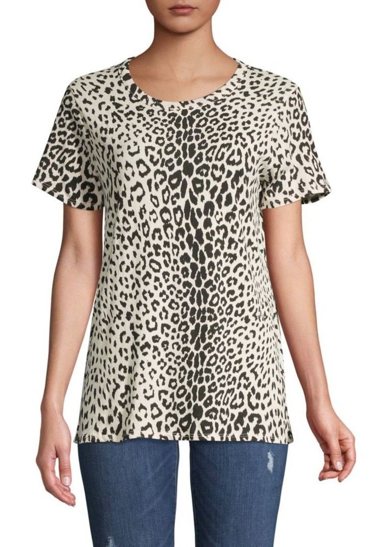 Chaser Leopard-Print Cotton Top