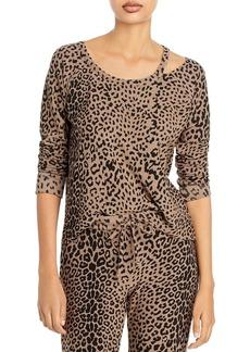 CHASER Leopard Print Pullover Sweatshirt