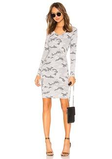 Chaser Long Sleeve V Neck Bodycon Dress