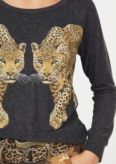 Chaser Love Knit Long Sleeve Raglan Pullover