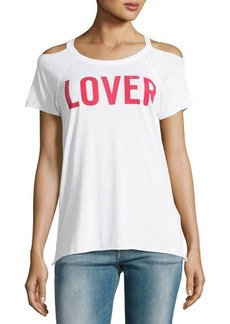 Chaser Lover Cold-Shoulder Graphic Tee