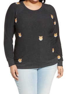 Chaser Mini Tiger Cozy Knit Pullover (Plus Size)