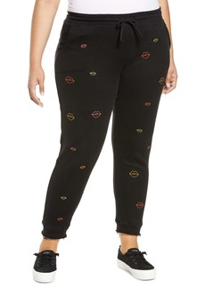 Chaser Neon Lips Joggers (Plus Size)
