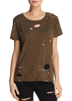CHASER Paint Splattered Distressed Tee