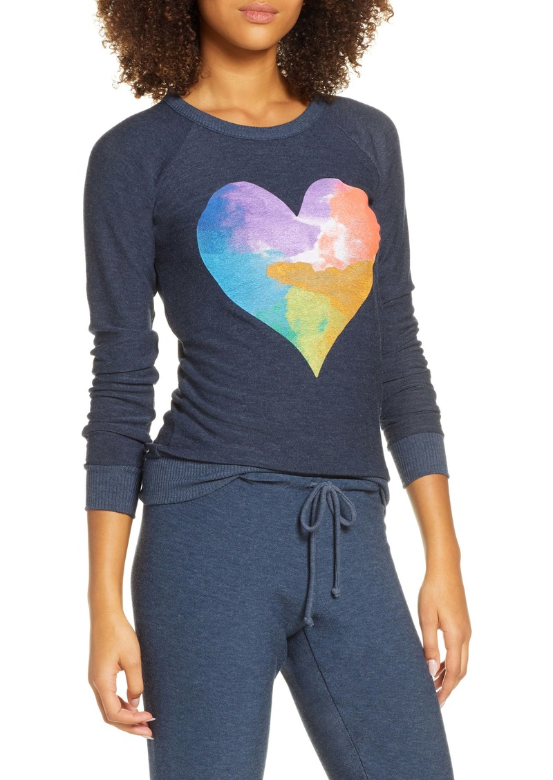 Chaser Rainbow Heart Cozy Pullover