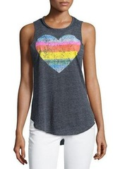 Chaser Rainbow Heart Tank Top