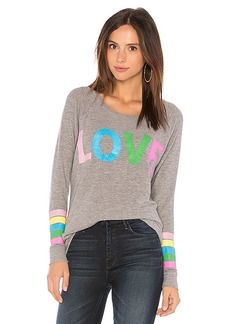 Chaser Rainbow Love Stripe Tee