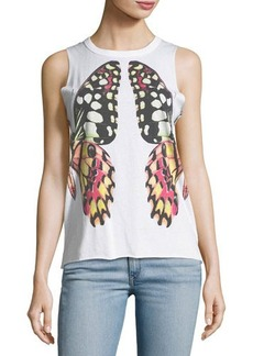 Chaser Reflected Butterfly Graphic Tank