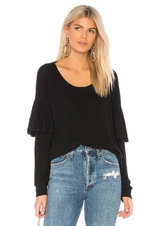 Chaser Ruffle Dolman Pullover