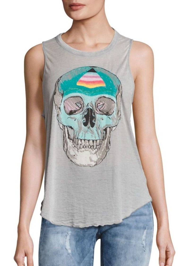 Chaser Skull Printed Sleeveless Jersey Top