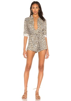 Chaser Snap Front Collared Romper