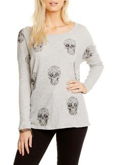 Chaser Sugar Skull Print Pullover