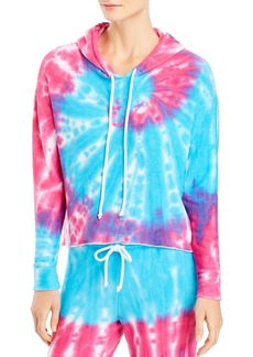 CHASER Tie-Dye Cropped Hooded Sweatshirt - 100% Exclusive
