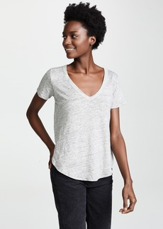 Chaser Tulip Side V Neck Tee