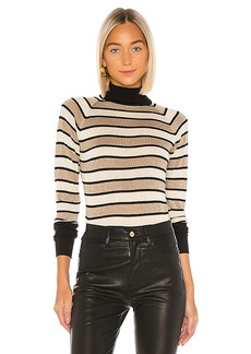 Chaser Turtleneck Raglan Shirttail Sweater