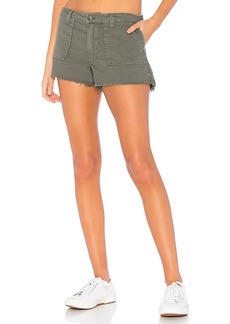 Chaser Vintage Canvas Frayed Utility Short