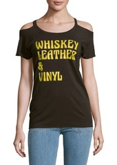 Chaser Whiskey Cold Shoulder Top