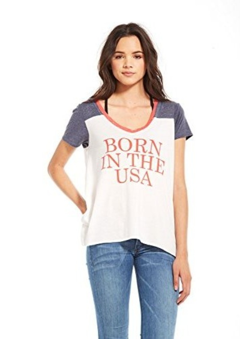 Chaser Chaser Women S Born In The Usa Athletic Graphic Tee