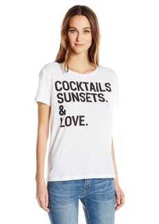 CHASER Women's Cocktails Sunsets and Love Tee  L