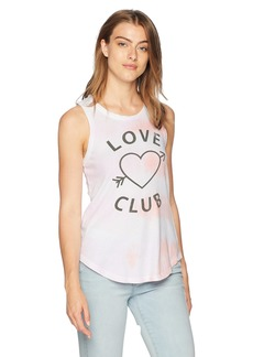 CHASER Women's Cotton Jersey Crew Neck Muscle Tank tie dye S