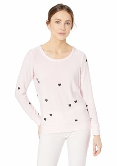 CHASER Women's Cozy Knit Long Sleeve Pullover  M