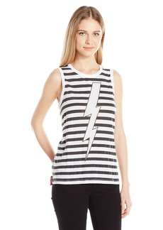 CHASER Women's Lightinig Stripes T-Shirt  M