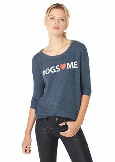 CHASER Women's Love Knit Long Sleeve Basic Pullover  L