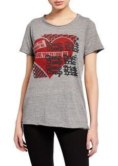 Chaser Cheap Trick Love Me Raw-Edge Graphic Tee