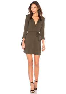 Chaser Cool Jersey Henley Dress