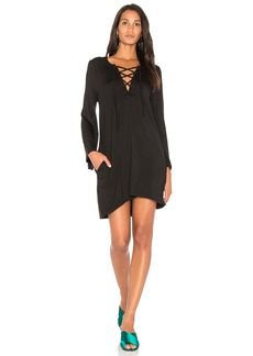 Chaser Cool Jersey Lace Up Dress