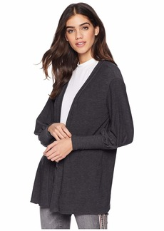 Chaser Cozy Knit Bishop Sleeve Open Front Cardigan